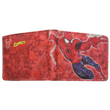 Marvel Avengers Spiderman Comic Strip Leather Canvas Wallet Red Card Holder Gift