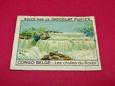CONGO BELGE CHUTES DU ROUBI RARE CHROMO CHOCOLAT PUPIER ALBUM AFRIQUE 1938