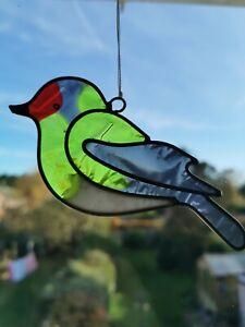 Bird sun catcher - Goldfinch - stained glass effect - garden gift