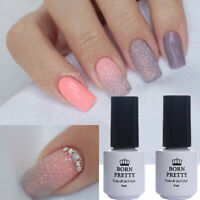 3Pcs Nail Glitter Powder Dust UV Gel Polish Pink Grey Soak off Nail Art Kit Tips