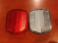 Front & Rear Bicycle Reflectors with Mounting Screws