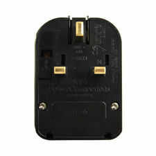 240V Euro Europe to UK Plug Converter 2 to 3pin Pins 13A Fused Black Adapter