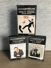 BBC Audio Cassettes Fawlty Towers X3 Second Sitting At Your Service A La Carte