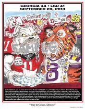 "Georgia Bulldogs Football Dave Helwig 2013""Way to Geaux, Dawgs"" Art Aaron Murray"
