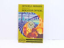 Kursbuch Bélgica 1976/77 Belga Spoorwegen Officielle Reisgids