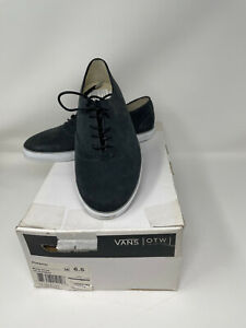 NEW with box VANS OTW WOESSNER Casual Skateboard Sneaker Shoes Black Suede M 6.5