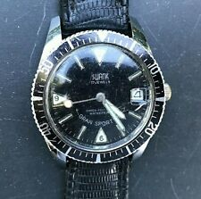 "Vintage 1960's SWANK Divers Watch ""GRAN SPORT 150"" 17 Jewels Automatic 35mm case"