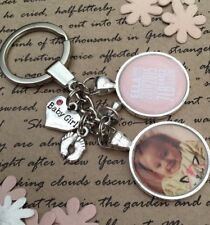 Personalised Photo Keyring New Baby Boy Or Girl Gift Present Birthday Christmas