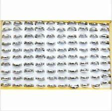 New 24PcS Wholesale Jewelry Lots Men Women Stainless Steel Simple Silver Ring