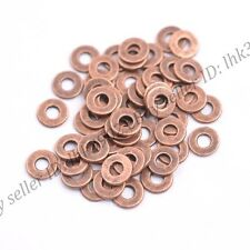 6/8MM Tibetan Silver/Gold/Bronze Rings Spacer Beads 100Pcs Z3036