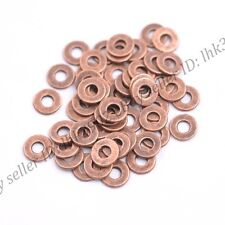 6/8MM Tibetan Silver/Gold/Bronze Rings Spacer Beads 100Pcs DB3036