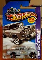 Hot Wheels * Showroom * 55 Chevy Bel Air Gasser * GRAY * GHTF *