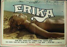ERIKA THE PERFORMER Italian fotobusta movie poster 1 SEXPLOITATION 1972