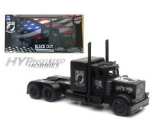 NEWRAY 1:32 PETERBILT BLACKOUT POW/MIA VETERAN'S TRIBUTE DIE-CAST BLACK SS-11643