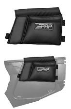 PRP Black Carbon Fiber Door Bag w/Knee Pad for PRP Doors Polaris RZR XP 1000