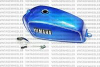 Fits For Yamaha RX100 RX125 Fuel Gas Tank Steel Blue With Tap ChromeLID Cap Lock