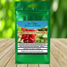 Full Spectrum Red Sage Vegetable Capsules 100% Pure No Fillers