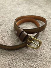 Womens Coach Brown Leather Thin Belt Size 30
