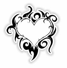 Heart Sticker Tattoo Tribal Tablet Laptop Fridge Door Room Book Car