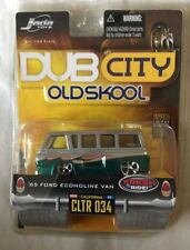 Jada Toys Dub City '65 1965 Ford Econoline Van Silver/Green Die-Cast 1/64 Scale