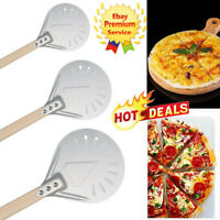 Perforated Pizza Peel Pizza Turning Peel for Homemade Pizza Bread Bakers Sale