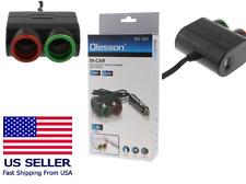 New 12V DC Car Cigarette Lighter Dual USB&2 Way Socket Splitter Charger Adapter