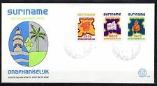 Suriname - 1975 Independence - Mi. 702-04 Clean unaddressed FDC!