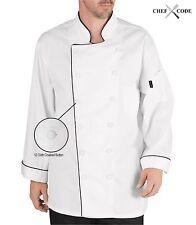 Chef Code Executive Chef Coat 12 Button Unisex Chef Jacket Cc103