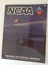 1990 NCAA BASKETBALL CHAMPIONSHIP PROGRAM DUKE VS UNLV RUNNING REBELS TARK