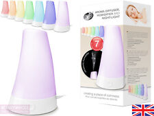 Rio Aroma Aromatherapy Diffuser Humidifier 7 Colour Night Light - 2yr Guarantee
