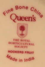 Queen's RHS Hookers Fruit PLUMS Dinner Plate & Salad Plate Fine Bone China