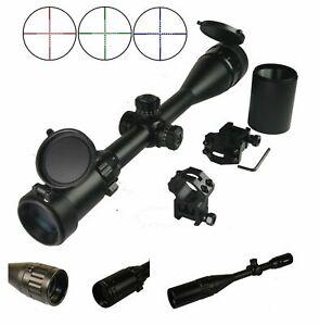6-24x50 Scope front AO adjustment RGB Tri-Illuminated scope With Sunshade&Ring