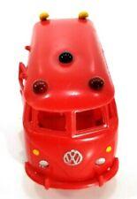 """VINTAGE 1960s VW VAN SOFT PLASTIC RED 7"""" LONG COOL VAN"""