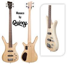 Monaco de Quincy 4 string electric bass guitar Ash Corps Érable canadien Cou