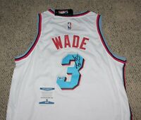DWYANE WADE SIGNED MIAMI HEAT VICE NIKE AUTHENTIC JERSEY SIZE 50 BECKETT COA