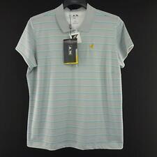 Nwt Womens Adidas Stretch Climalite Striped Polo Golf Shirt Size Xl Lycra Tennis