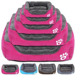 Large Dog Nesting Beds Soft Pet Basket Warm Fleece Kennel Cat Sleep Pillow S-XXL