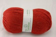 40% Alpaca, 60% Merino Fingering weight knitting yarn Orange Red-208