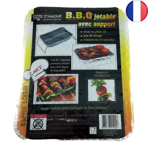 Barbecue grill avec support jetable ou réutilisable BBQ viande poisson poulet