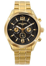 Jorg Gray Unisex JG6100-22 Black Dial Gold Stainless Steel Band Watch