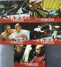 Jet Li's Fearless Movie Promo Trading Card Set of 5 Cards Comic Con Exclusive