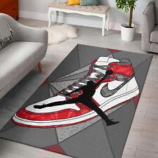 RUG LIVING ROOM - Air Sneaker Jordan Area Rug, Anti Skid Carpet, US Home Decor