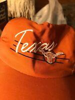 Texas Longhorns Orange Script Snapback NCAA Cap Hat Lid Snap Back HORNS