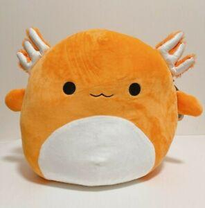 """Squishmallows Kellytoy Official 12"""" Nico the Orange Axolotl Plush Doll Toy"""