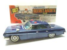 1962 Tin Battery Op.Japan James Bond Secret Agent Chevy Chase Car & BOX.WORKS.