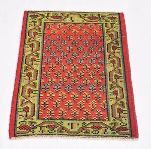 Sharp Color Vintage Awesome Designed 2 by 3 feet, Area Rug, Hand-knotted Rug Mat