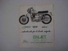advertising Pubblicità 1969 MOTO ITALJET 650 GRIFON