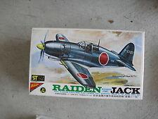 Nichimo Japan Raiden Mitsubishi Jack Airplane Model Kit 1/72 MIB