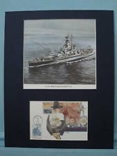 Saluting the USS Massachusetts & First Day Cover