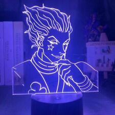 LED Night Light Hunter X Hunter Anime Hisoka Smirk 3D Lamp 7 Color USB GIFT NEW